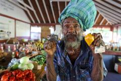 Bequia, Markt für Gemüse und Gwürze, St. Vincent. Grenadines. Karibik 20
