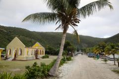 Jost-van-Dyke_Great-Harbour_vom Sturm zerstörte Kirche, Britische-Jungferninseln, British Virgin Islands, 20