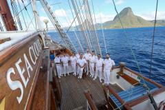 Seacloud, Offiziere, vor Guadeloupe, 20