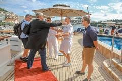 Seadream2, Empfangskomitee an Bord_Seadream Cruises, Dubrovnik-Rom, 19