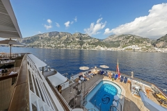 Seadream2, Pooldeck_Seadream Cruises, Dubrovnik-Rom, 19